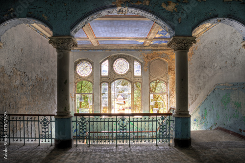 Photo Stands Old Hospital Beelitz Beelitzer Treppenaufgang