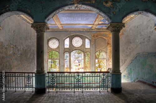 In de dag Oud Ziekenhuis Beelitz Beelitzer Treppenaufgang