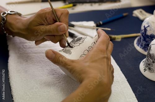 Fotografie, Obraz  Painting a porcelain