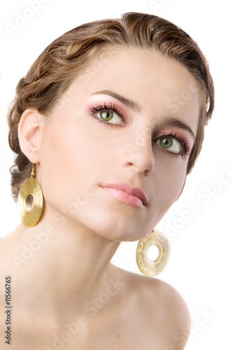 Close-up portrait of a beautiful young woman Canvas-taulu
