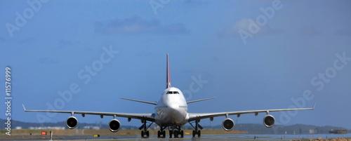 Fotografia 747 Jumbo jet front view
