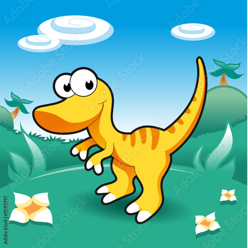 Tuinposter Dinosaurs Baby Dinosaurs