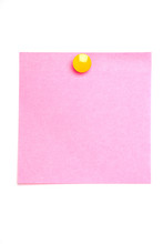 Pink Post It Note Isolated On ...