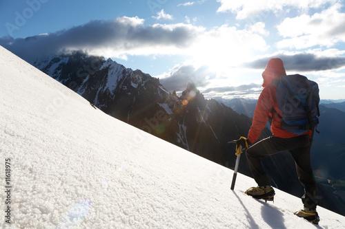 Montage in der Fensternische Wintersport Mountain climber