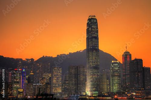 Foto-Vertikallamellen zum Austausch - Hongkong Skyline