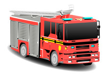 Red Firetruck Fire Engine