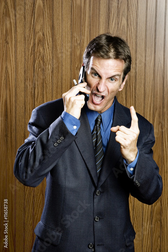 Photo  Angry businessman