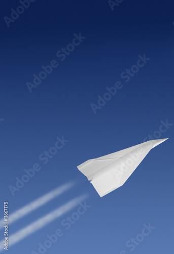Fototapeta papierflieger startet durch obraz na płótnie