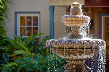 Garden Fountain In St. Augustine, Florida