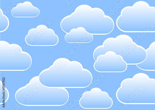 Papiers peints Ciel clouds seamless