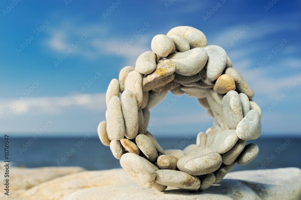 Doppelrollo mit Motiv - Stone circle