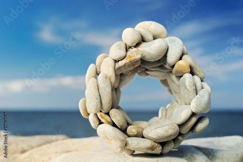 Doppelrollo mit Motiv - Stone circle (von styf)