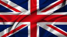 UK Flag Waving On Satin Texture