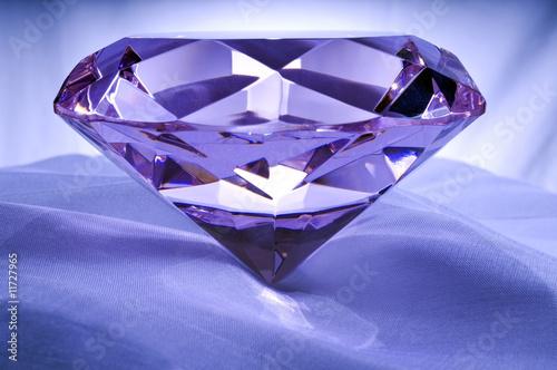 Fotografie, Tablou  Diamond or Amethyst on Satin