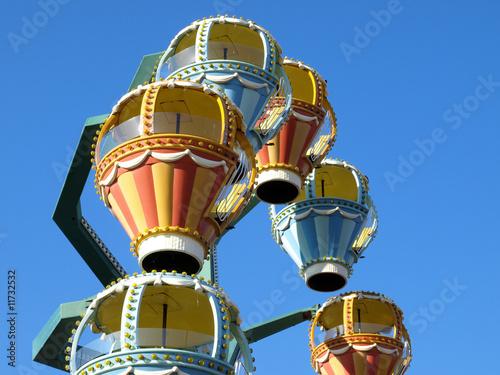 In de dag Amusementspark Ferris wheel at a Long Island festival
