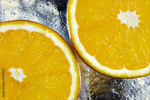 Aluminium Prints Slices of fruit Orangenscheiben