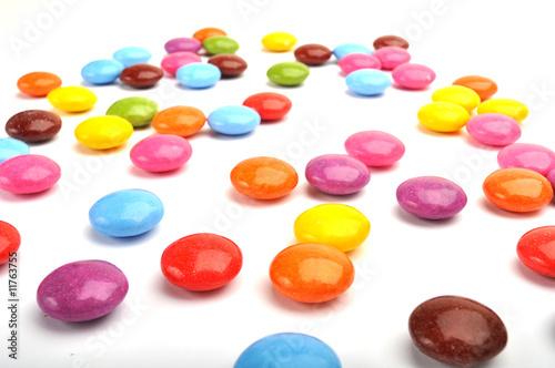 Fotobehang Snoepjes Schokolinsen Schokolade