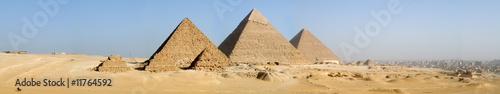 Deurstickers Egypte The Giza Pyramids Panorama