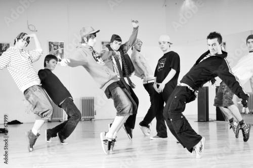 Fototapety, obrazy: teen group dance