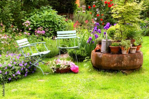 Poster Tuin Hausgarten Stilleben