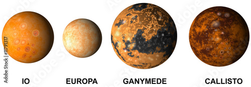 Fotografie, Obraz  Jupiter's moons