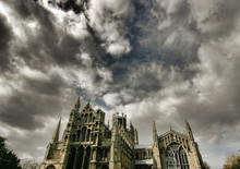 Dramatic Sky Over Ely Cathedral