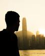 canvas print picture - Hongkong (Hong Kong), China - Skyline