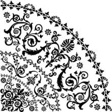 Black Curled Quadrant Design