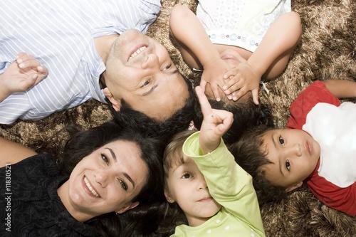 Fototapeta Portrait of Family obraz na płótnie