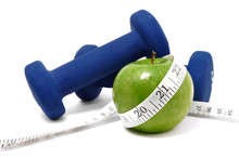 Blue Weights, Green Apple, And...