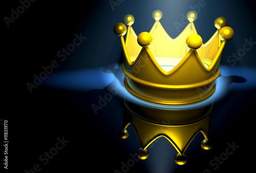 Valokuva  crown in blue light
