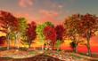 canvas print picture Autumn landscape