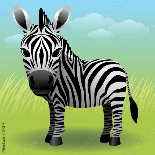Deurstickers Zoo Baby Animal collection: Zebra. More animals in my gallery.