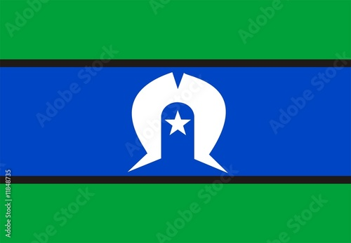 Fotografie, Obraz  Flag Of Torres Strait Islander