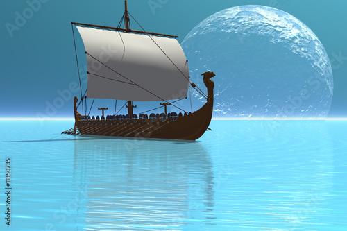 Fotografie, Obraz  VIKING SHIP 2