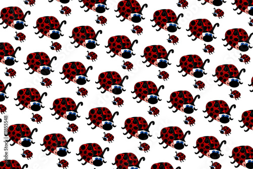 Canvas Prints Ladybugs Ladybugs Pattern