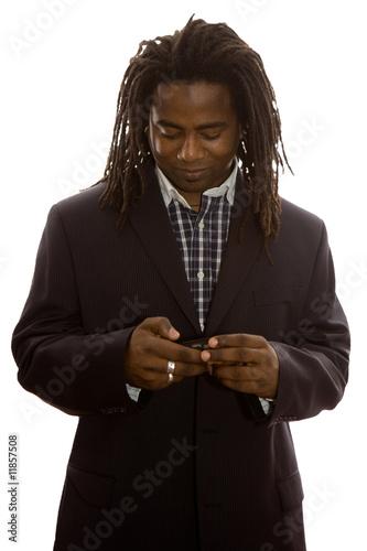 Photo  Businessman Texting