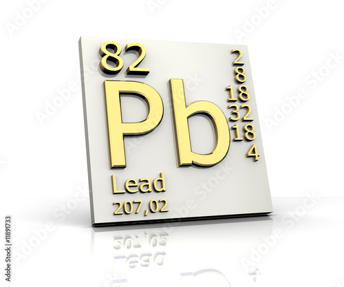 Lead Form Periodic Table Of Elements Buy This Stock Illustration
