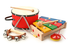 Musical Instruments On White B...