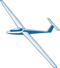 Vector Illustrated Glider On T...