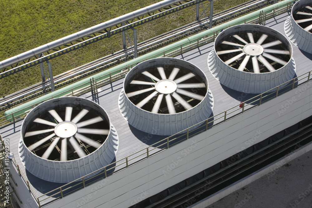 Fotografia Cooling tower at energy plant