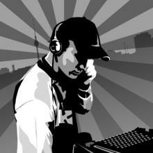 Berlin DJ At Work, Black And W...