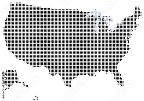 Photo sur Toile Pixel Mosaic of USA
