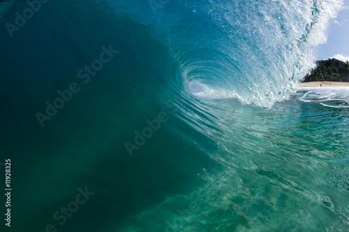 Autocollant pour porte Eau the perfect wave