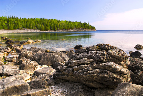 Rocks at shore of Georgian Bay