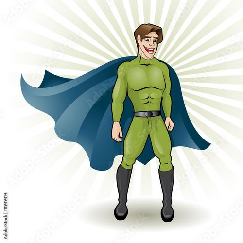 Poster Superheroes super young hero