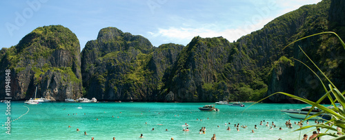 Photo Phi Phi islands lagoon panorama, Thailand