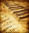 Leinwandbild Motiv vintage musical background