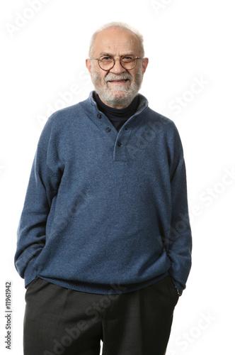 Fotografie, Obraz  portrait vieux homme