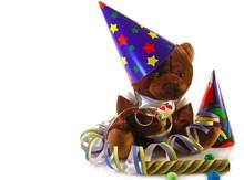 Little Teddy Bear Celebrating His Birthday